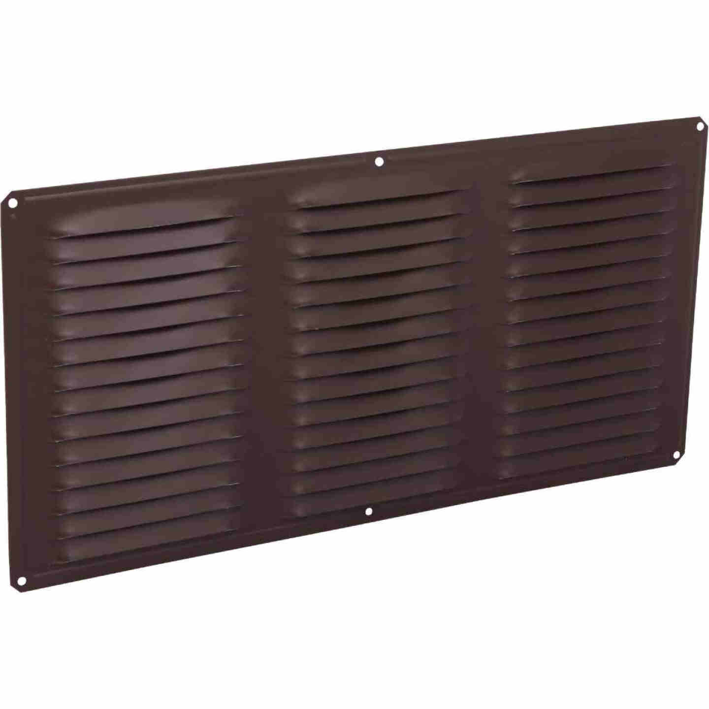 Air Vent 16 In. x 8 In. Brown Aluminum Under Eave Vent Image 1