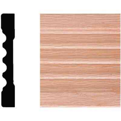 House of Fara 7/16 In. W. x 3 In. H. x 7 Ft. L. Natural Solid Oak Fluted Wood Casing