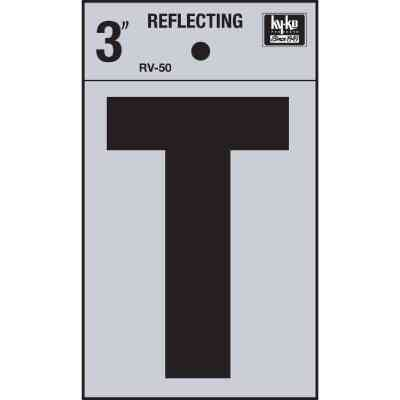Hy-Ko Vinyl 3 In. Reflective Adhesive Letter, T