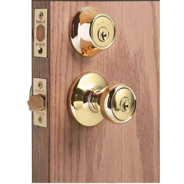 Kwikset Polished Brass Deadbolt and Door Knob Combo Image 2