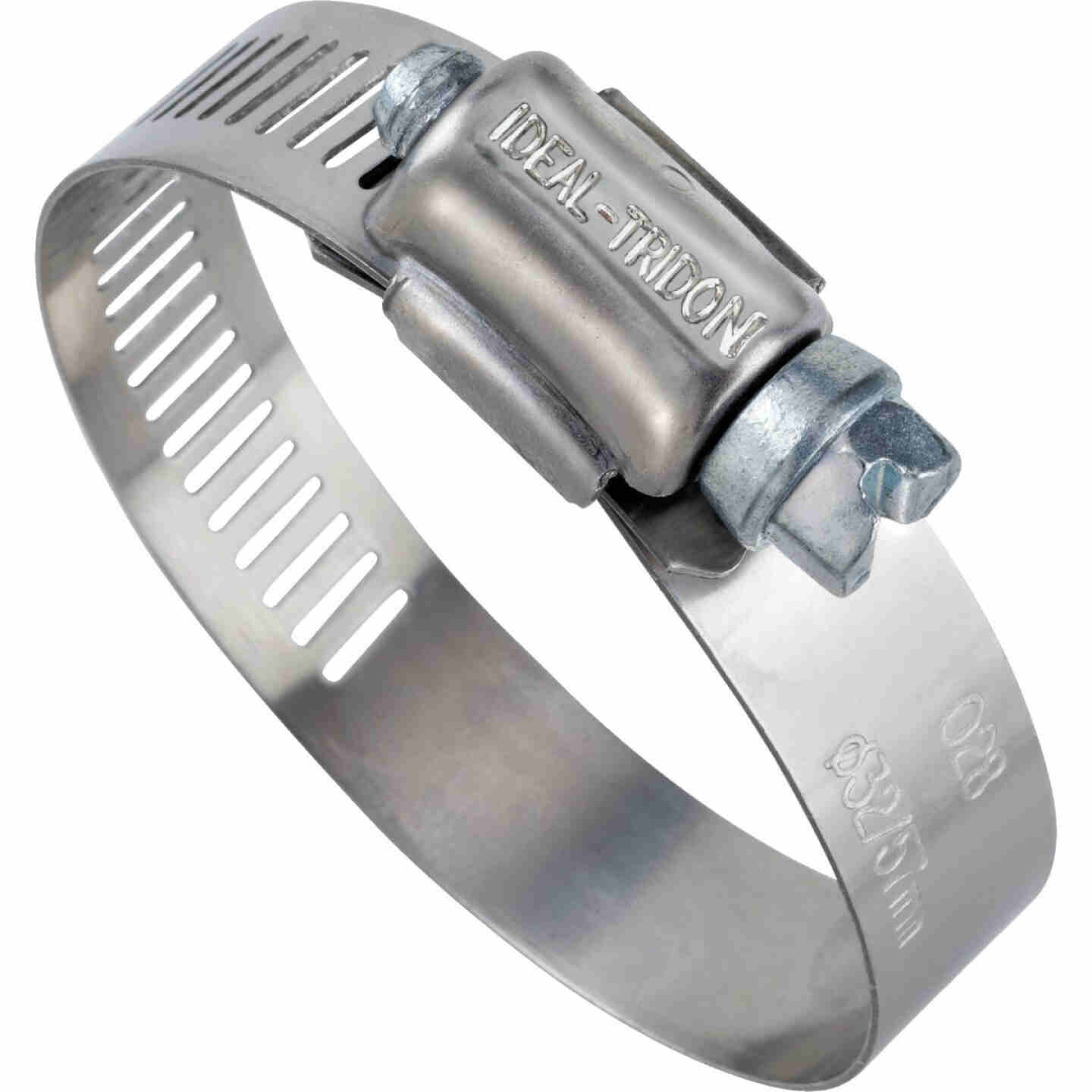 Ideal 1 In. - 2 In. 57 Stainless Steel Hose Clamp with Zinc-Plated Carbon Steel Screw Image 1
