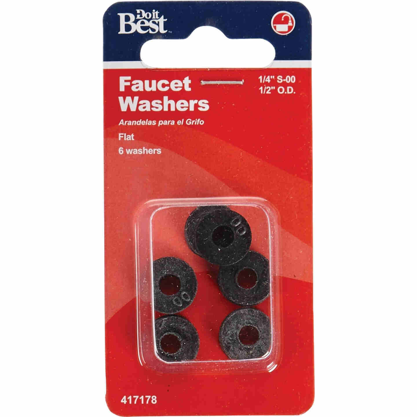 Do it 1/2 In. Black Toilet spud Faucet Washer (6 Ct.) Image 2