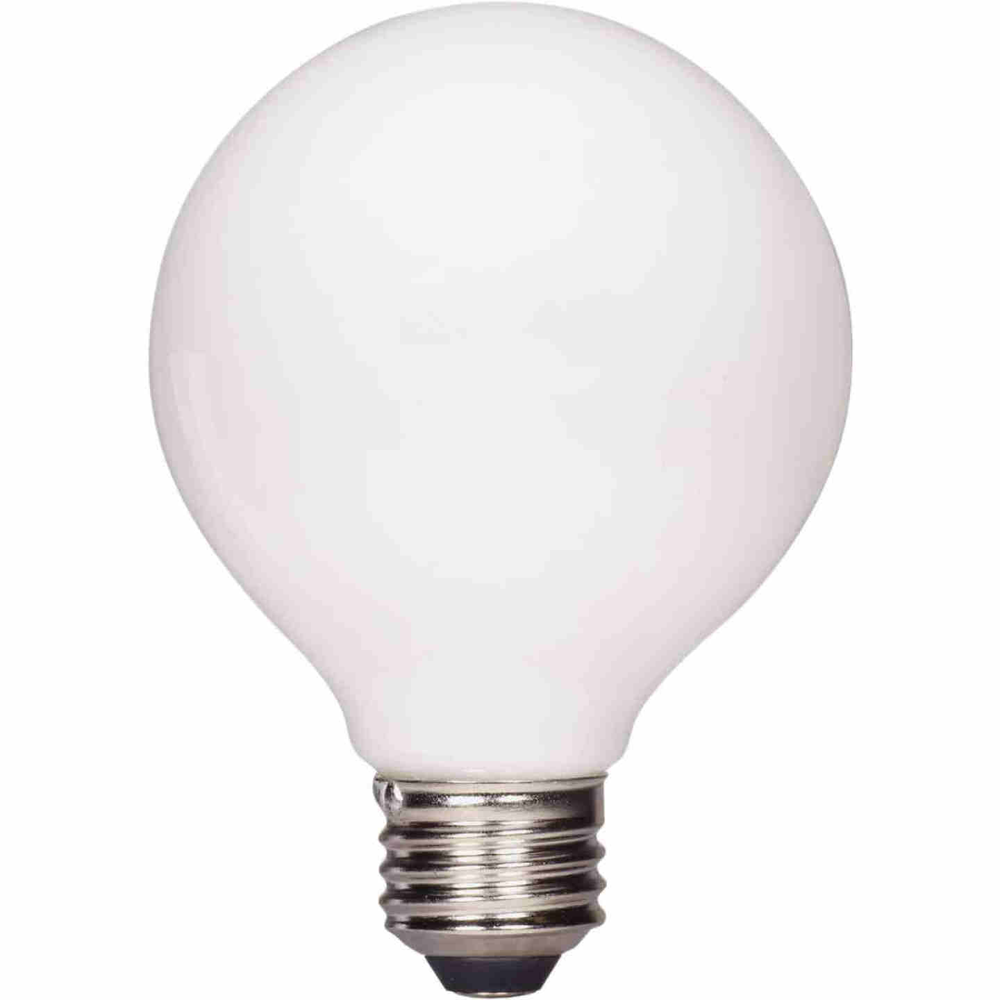 Satco Nuvo 40W Equivalent Warm White G25 Medium Frosted LED Decorative Light Bulb (2-Pack) Image 1