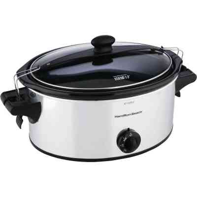 Hamilton Beach Stay or Go 6 Qt. Stainless Steel Slow Cooker