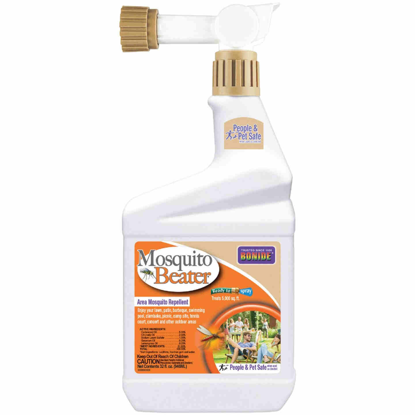 Bonide Mosquito Beater 1 Qt. Ready To Spray Hose End Insect Repellent Image 1