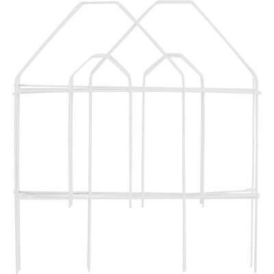 Best Garden 8 Ft. White Galvanized Wire Folding Fence
