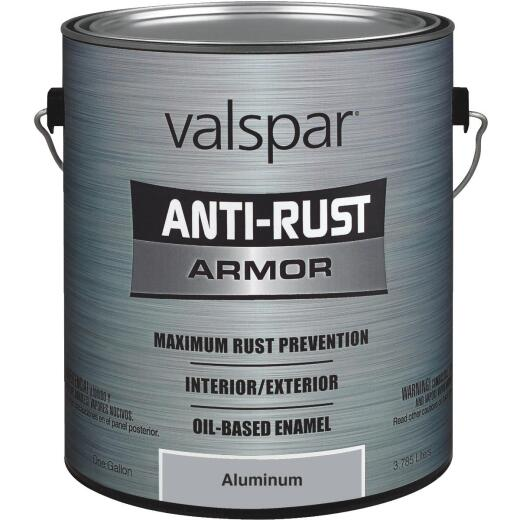 Valspar Anti-Rust Oil-Based Gloss Armor Rust Control Enamel, Aluminum, 1 Gal.