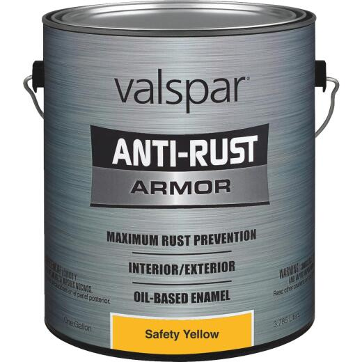 Valspar Oil-Based Gloss Anti-Rust Armor Safety Color Rust Control Enamel, Safety Yellow, 1 Gal.