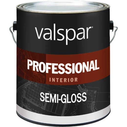 Valspar Professional Latex Semi-Gloss Interior Wall Paint, High Hide White, 1 Gal.